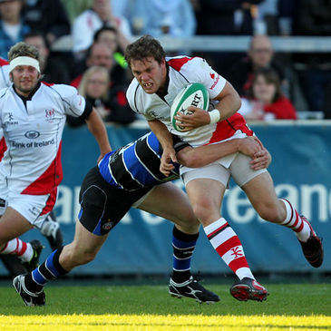 Ulster's Darren Cave in action against Bath