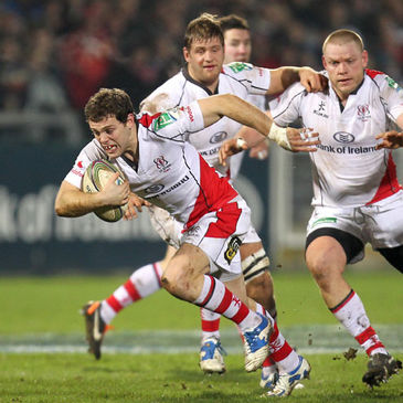 Darren Cave in action for Ulster