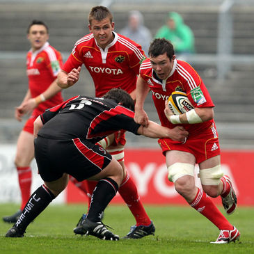 Munster's Dave Foley and Peter O'Mahony
