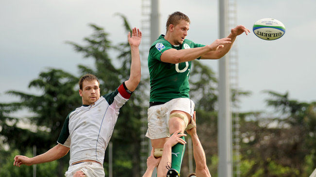 David Foley in action for Emerging Ireland