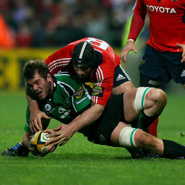 David Gannon in action for Munster back in April 2009