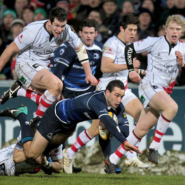 Leinster's David Kearney in action against Ulster