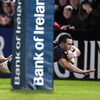 David Kearney took a well-timed pass from Ian McKinley to race in by the posts for Leinster's first try