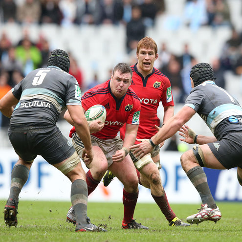 Munster prop David Kilcoyne in action against Racing Metro