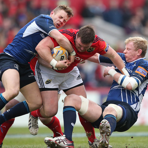 Munster's David Kilcoyne in action against Leinster