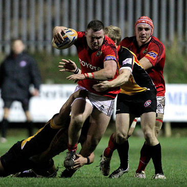 Prop David Kilcoyne on the charge for Munster 'A'