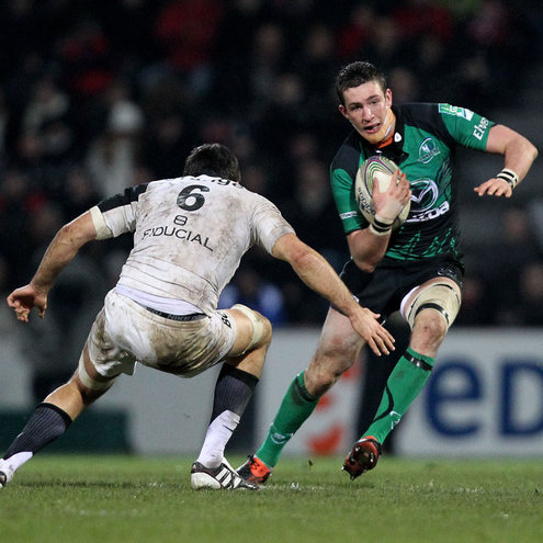 Connacht's David McSharry in action against Toulouse