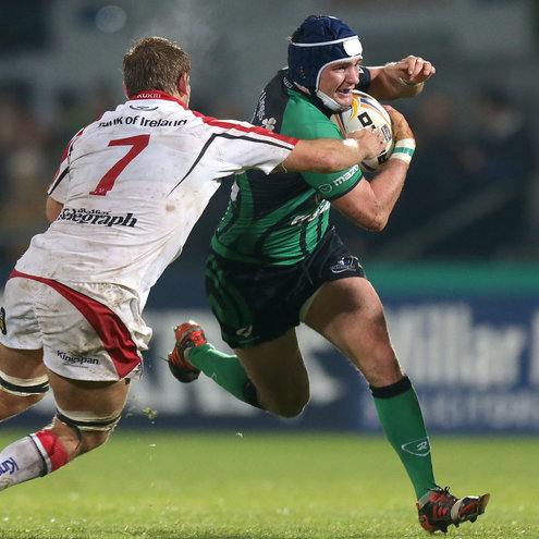 David McSharry in action against Ulster