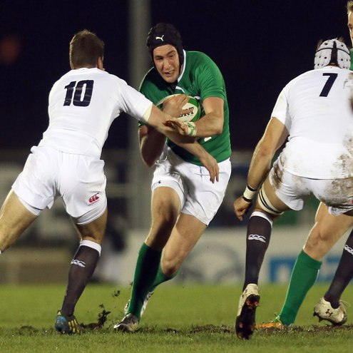 David McSharry in action for the O2 Ireland Wolfhounds