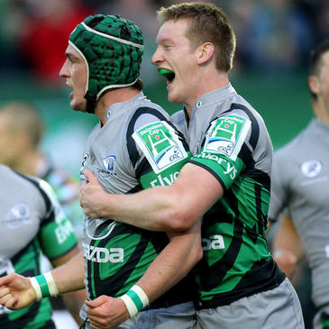 Connacht's David McSharry and Eoin Griffin