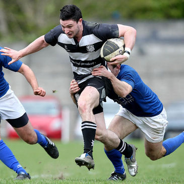 Try scorer David Mongan in action for Old Belvedere