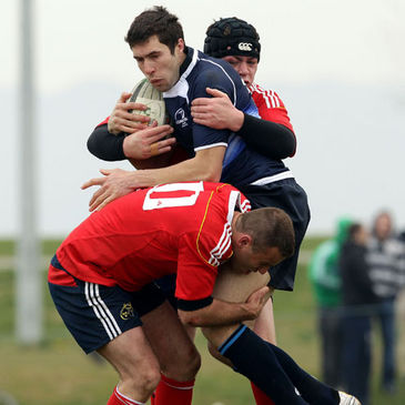 Action from the Leinster v Munster clash in Seapoint