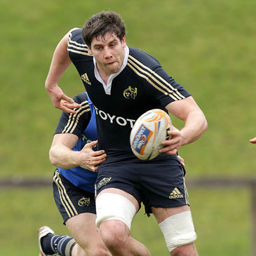 David O'Callaghan training with the Ireland squad