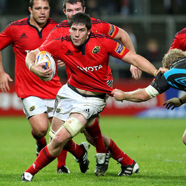 David O'Callaghan in action for Munster