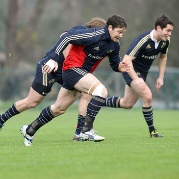 David Wallace training with the Munster squad in Cork