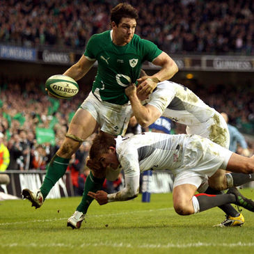 David Wallace carries forward for Ireland