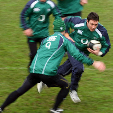 David Wallace in action at training