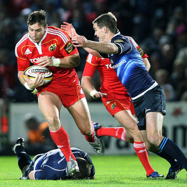 Munster's David Wallace on the attack against Leinster