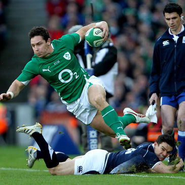David Wallace in action for Ireland