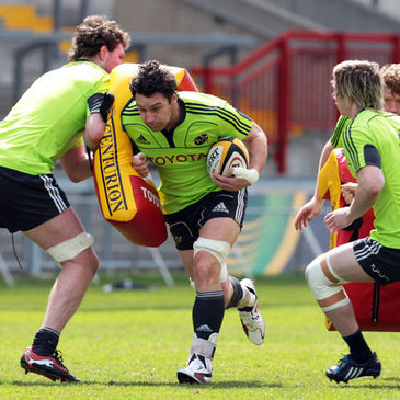 David Wallace training with the Munster squad