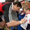 David Wallace made this youngster's day by signing his Munster jersey