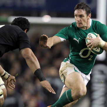 David Wallace in action against New Zealand