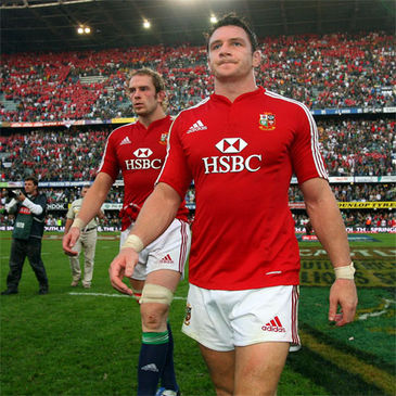 David Wallace heads for the dressing room after Saturday's Test match defeat