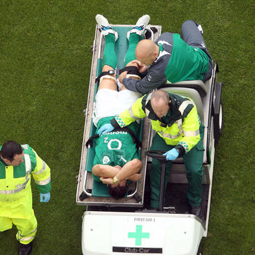 David Wallace injured his right knee against England