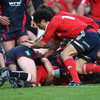 Flanker David Wallace gets over for Munster's second try in their bonus point defeat of the Scarlets