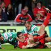 David Wallace's 39th-minute try was his 18th in the Magners League, and first score for Munster since he dotted down twelve months ago against Ulster