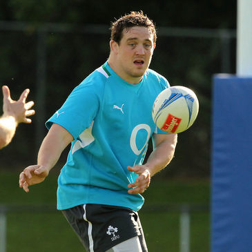 Declan Fitzpatrick training with the Ireland squad