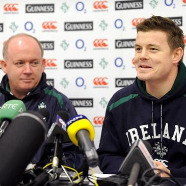 Declan Kidney and Brian O'Driscoll at Friday's press conference