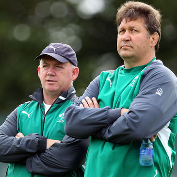 Ireland coaches Declan Kidney and Gert Smal