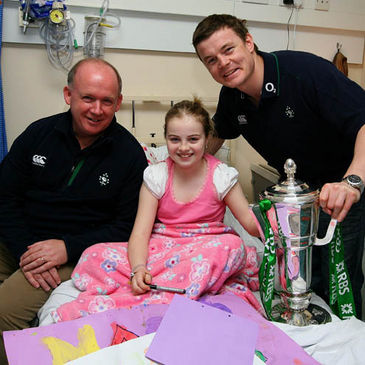 Declan Kidney and Brian O'Driscoll with Aoife McLaughlin