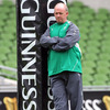 Declan Kidney is pictured on the day before his 32nd Test match as Ireland's head coach. He has guided them to 19 wins so far