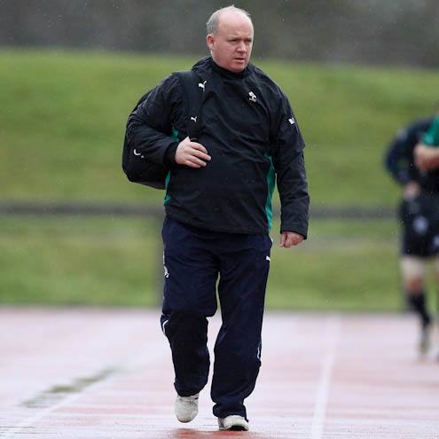 Photos of the Ireland players training at the University of Limerick