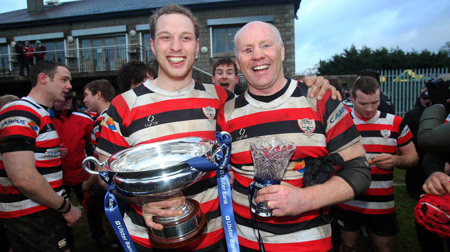 Enniscorthy celebrate their Ulster Bank Junior Cup win