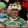 A dejected Leicester Tigers fan looks on, thinking of what might have been for his side