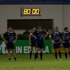 The Leinster players look dejected as they wait for Tobie Botes to attempt to convert Brendan Williams' late try