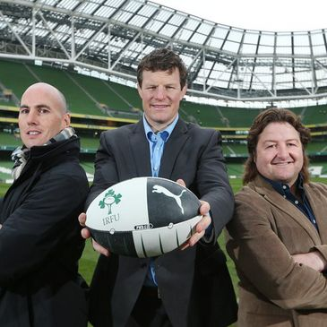 Former internationals Girvan Dempsey, Malcolm O'Kelly and Shane Byrne