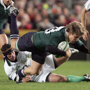 Denis Leamy in action against South Africa