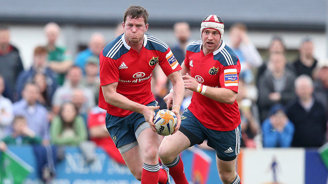 Munster's Denis Hurley and Johne Murphy