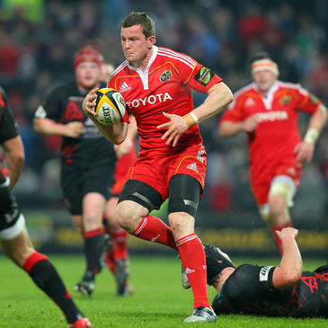 Denis Hurley in action for Munster