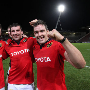 Munster back rowers Denis Leamy and Niall Ronan
