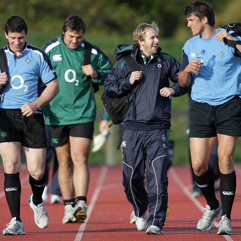 Ireland Squad Training At The University Of Limerick, Tuesday, October 28, 2008