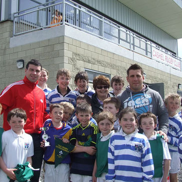Denis Leamy and Julien Brugnaut at Cashel RFC