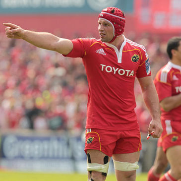 Munster back rower Denis Leamy