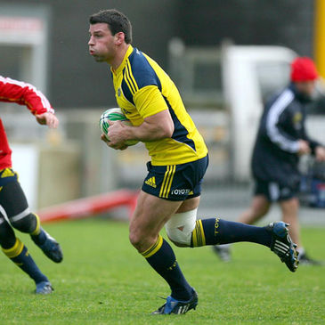 Denis Leamy training at Thomond Park