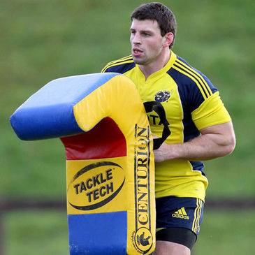 Denis Leamy training with the Munster squad