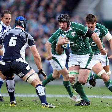 Denis Leamy on the charge against Scotland